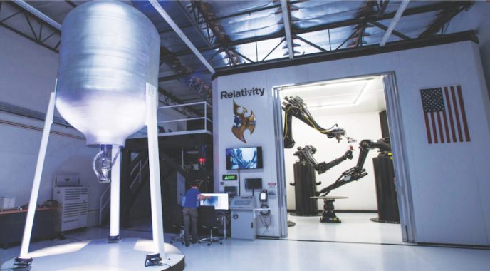 Metal 3D printing machine designed by Relativity Space