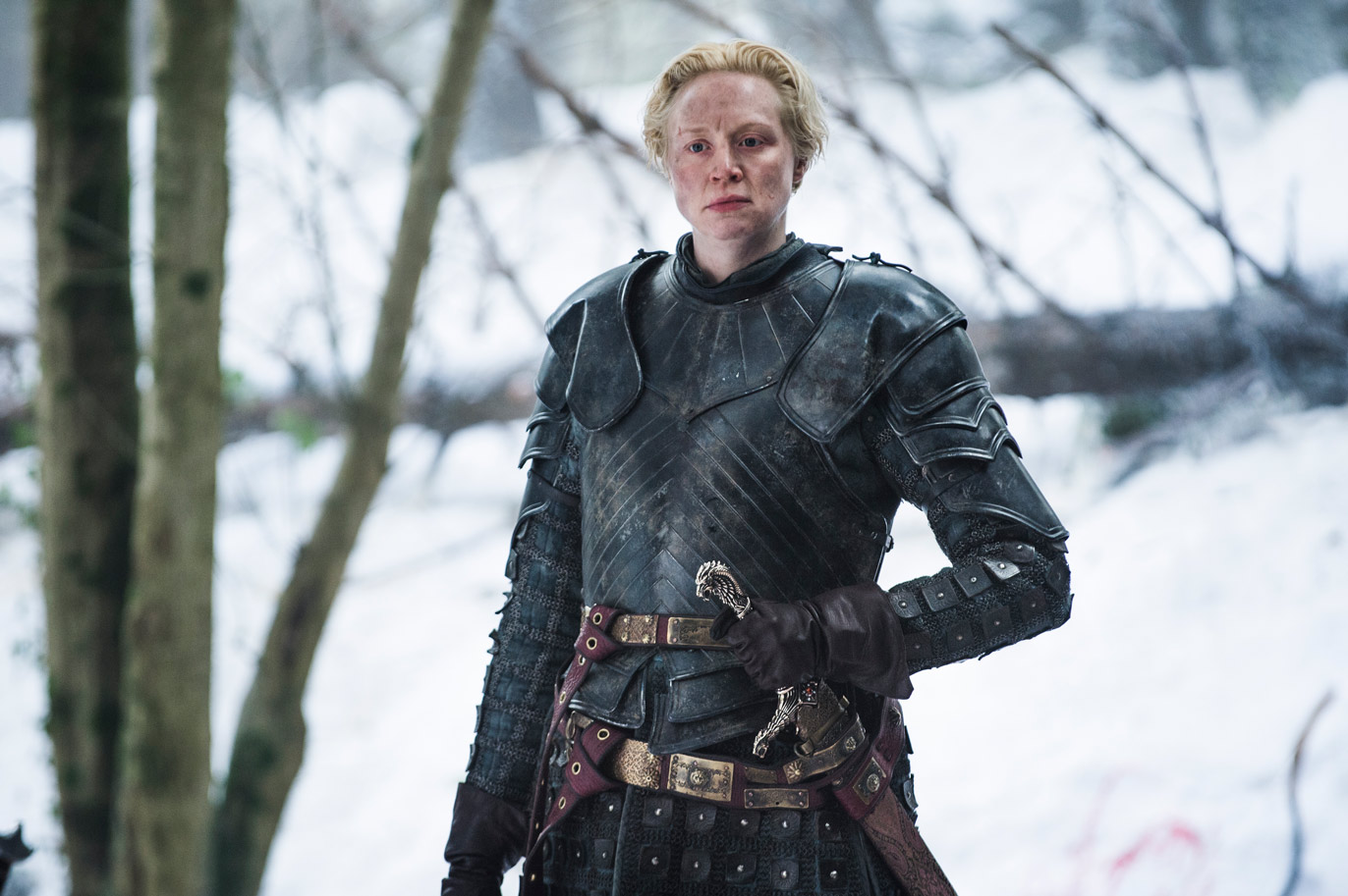 Brienne of Tarth with the Oathkeeper