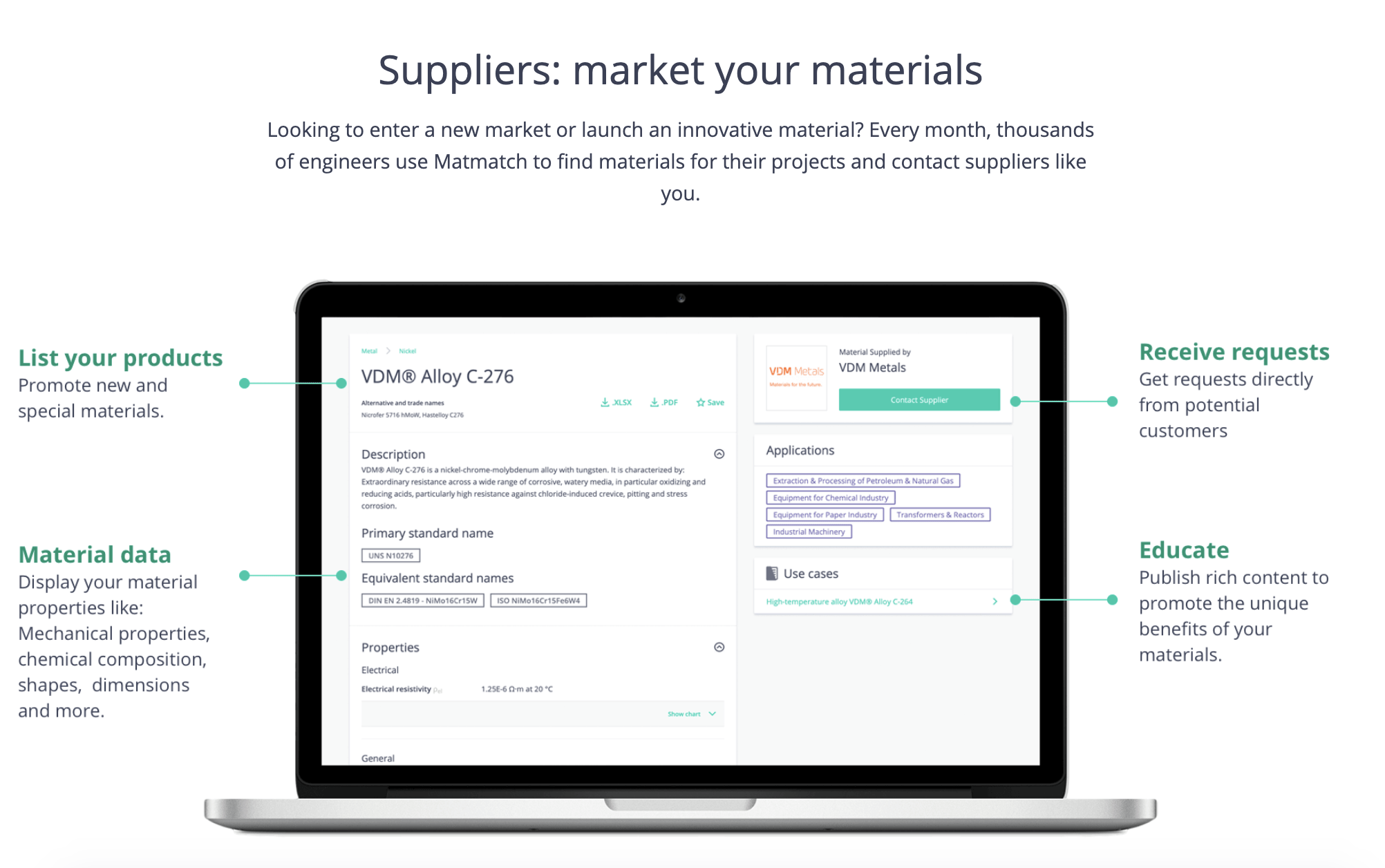 Matmatch - market your materials in the right way