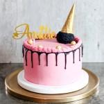sjokoladekake med bringebærsmørkrem
