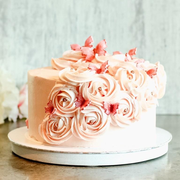 Lys sjokoladekake
