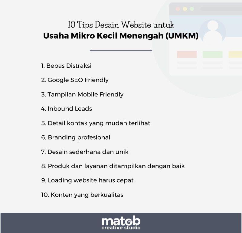 10 Tips Desain untuk Website Bisnis UMKM