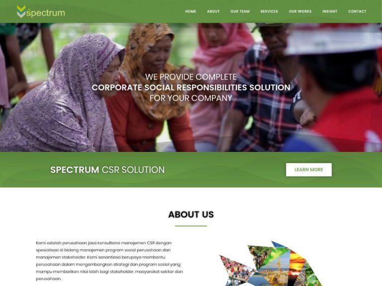 re-desain website konsultan csr spectrumsolution