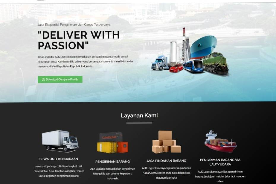 alk logistik - jasa pembuatan website