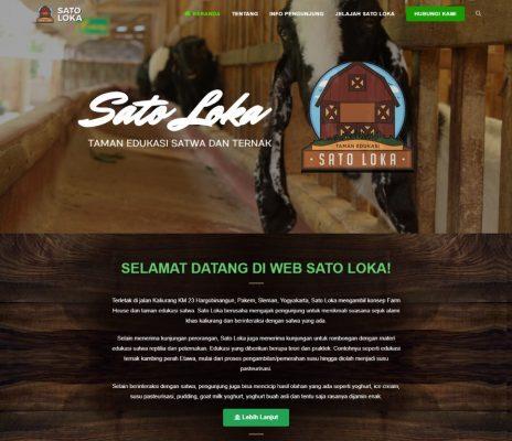 website taman satwa sato loka yogyakarta - matob creative studio - jasa bikin website berkualitas