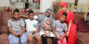 Zari and Diamond Platnumz with all Zari's children.