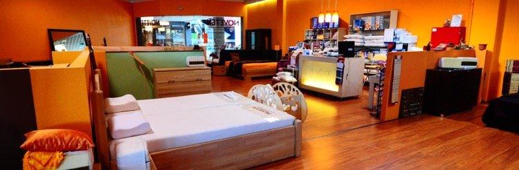 Szépen berendezett novetex matrac üzlet