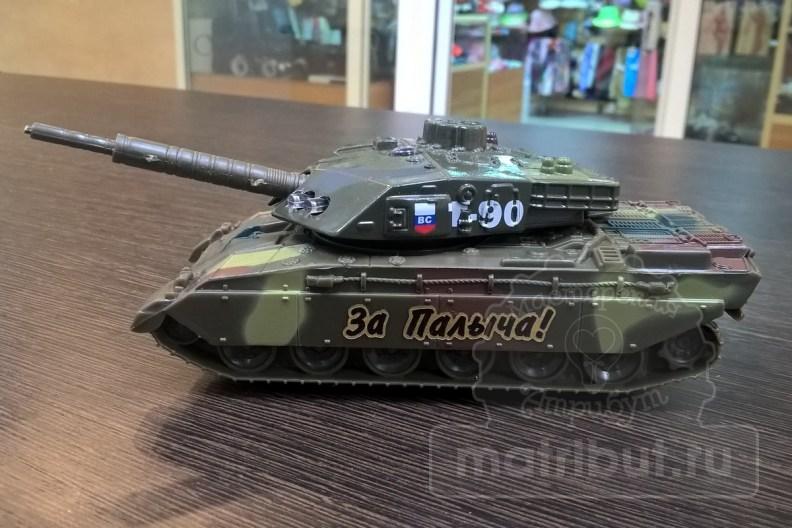 Лазерная гравировка и резка поздравления на подарок танкисту