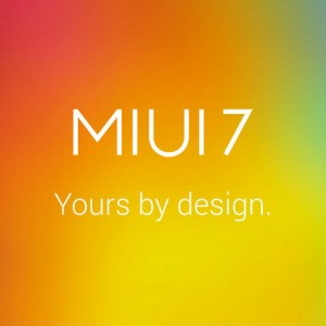 MIUI 7 - Yours by design