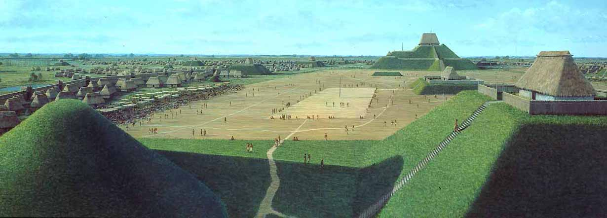 Cahokia: North American Mounds | Artist's impression