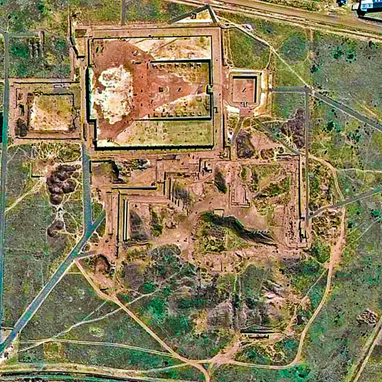 Tiwanaku seen from above