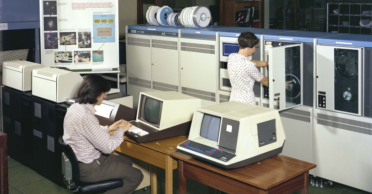 A photograph featuring a DEC VAX-11/780 computer in operation (August 1980)
