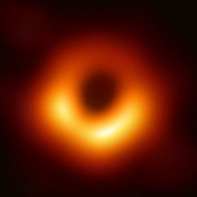 The black hole at the center of the galaxy M87 came into view this year. EVENT HORIZON TELESCOPE COLLABORATION