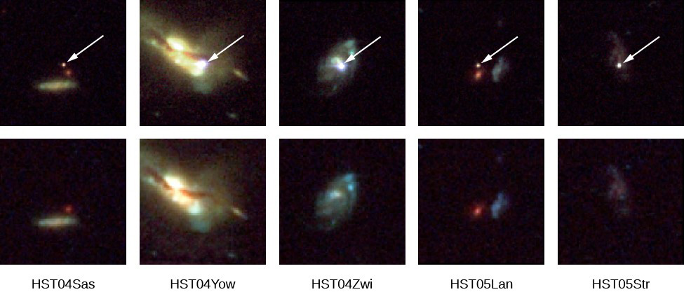 Five Supernovae and Their Host Galaxies