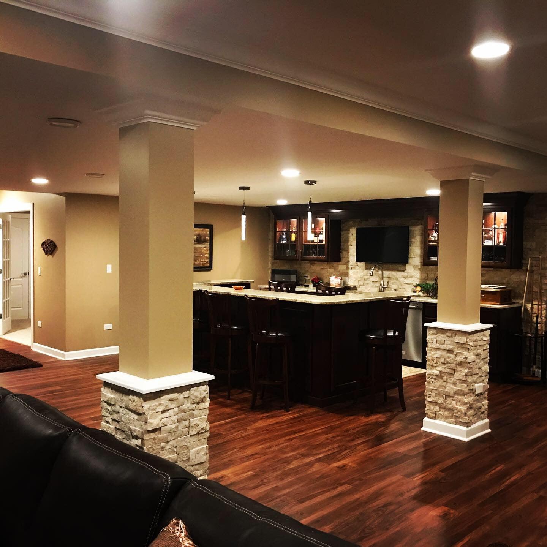 living room, basement, remodel, home