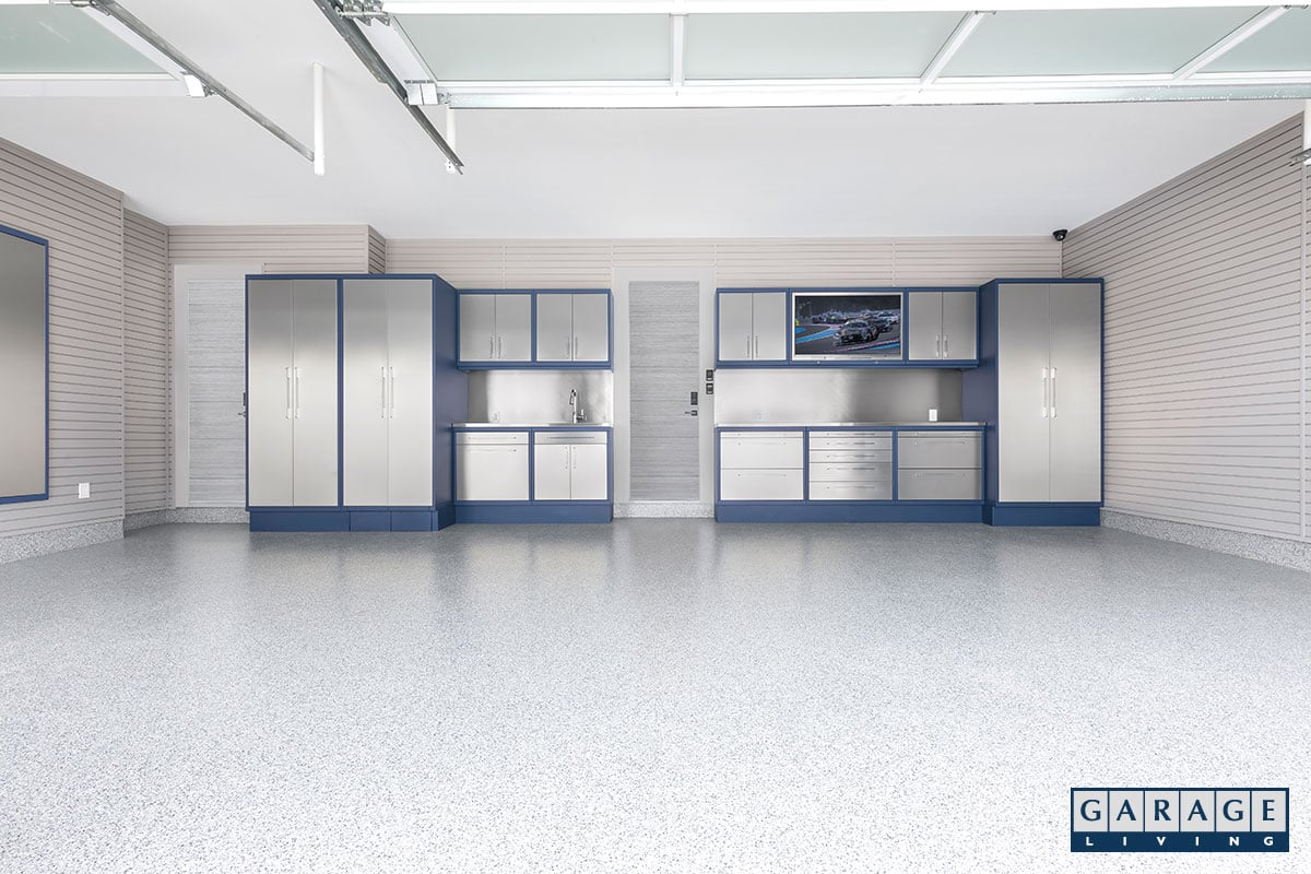 garage floor luxury winter