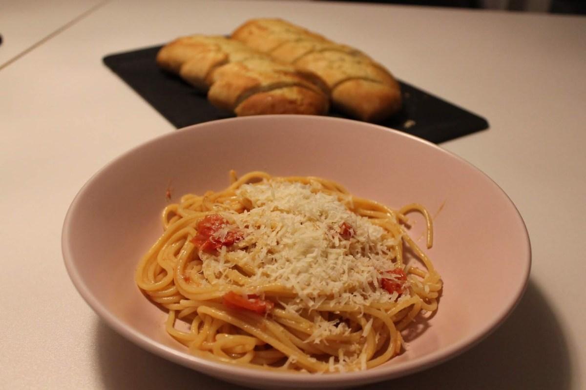 Olivia bjöd på Spaghetti al Pomodoro