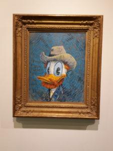 Donald Duck Van Gogh Portrait