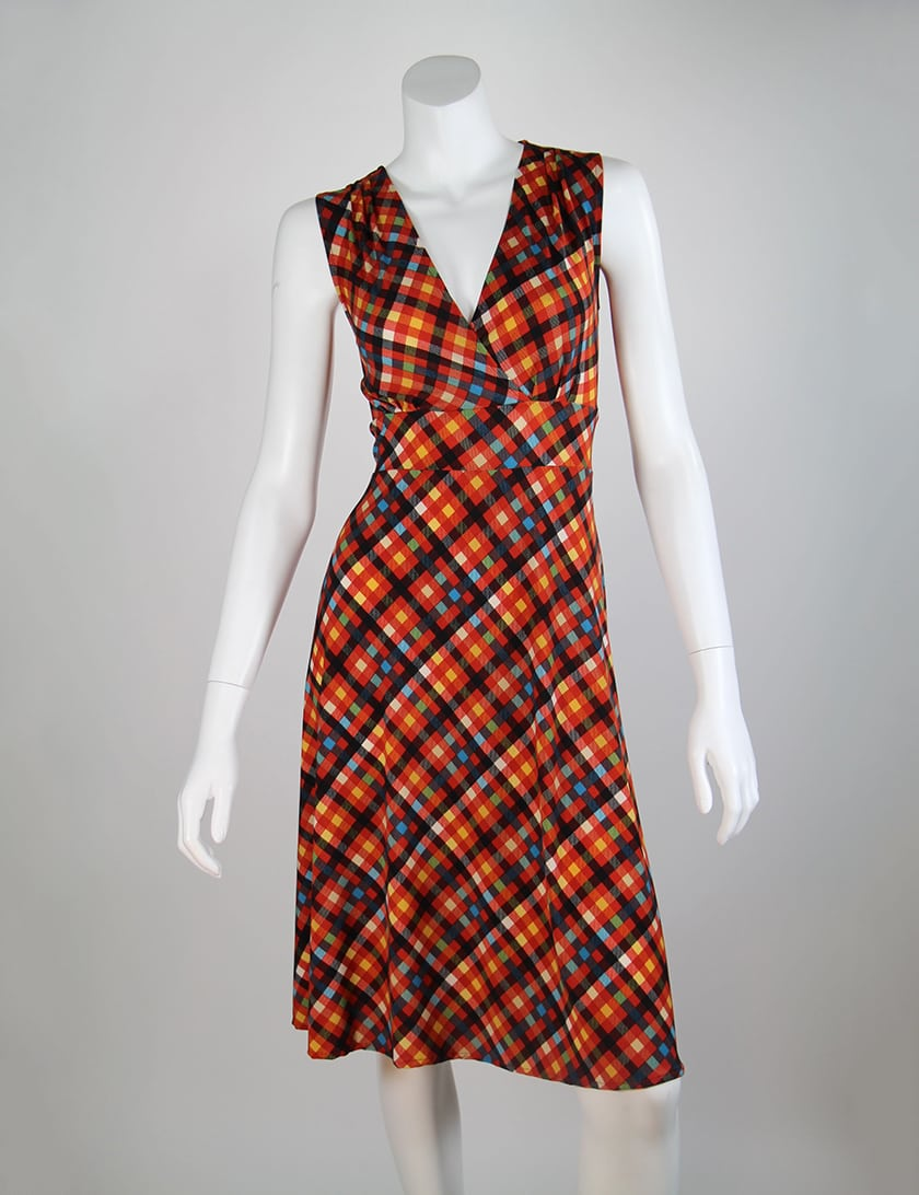 Red Plaid Cleopatra Dress
