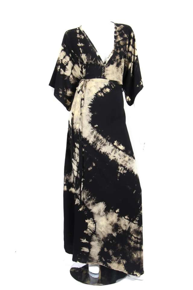 One-Of-A-Kind Black and White Tie Dye Carli Dress