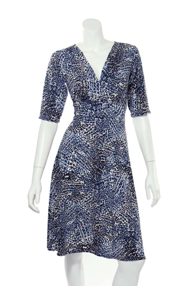 Blue Black Confetti Cleopatra Dress