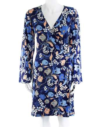 Blue Lily Wrap Dress