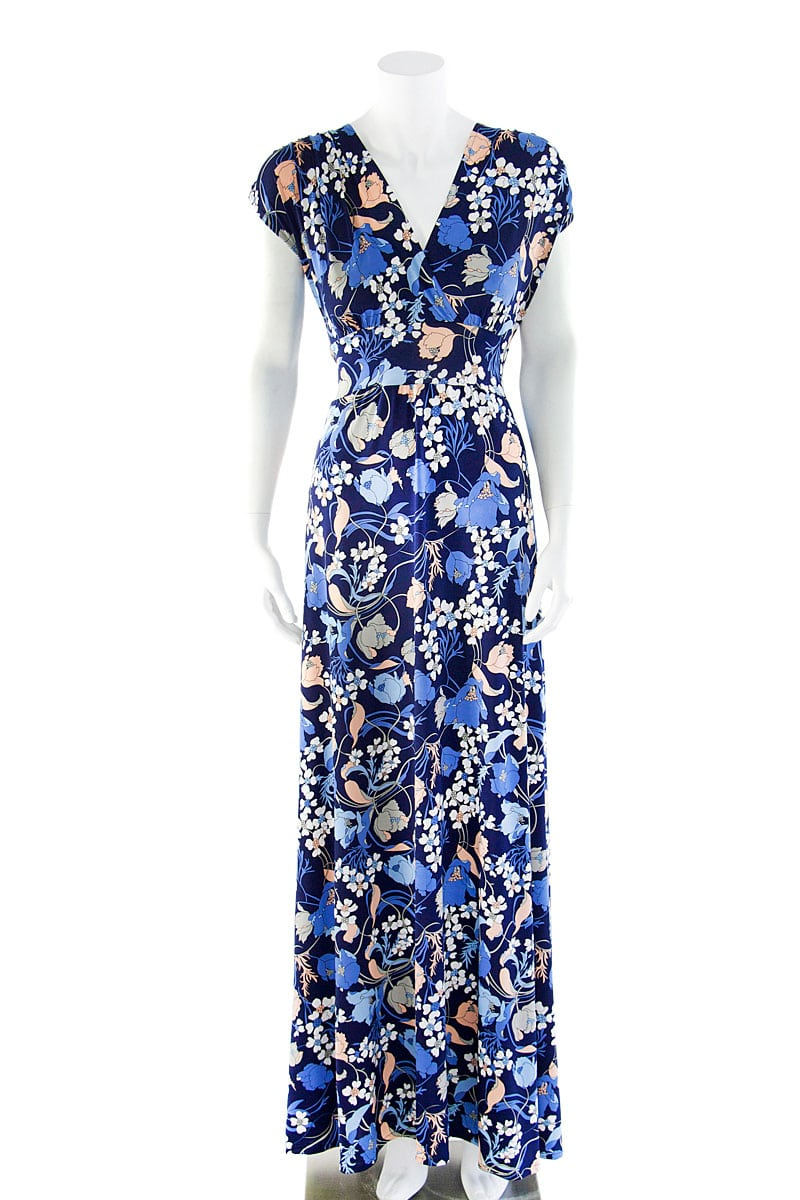 Veronica Lake Blue Lilly Maxi Dress
