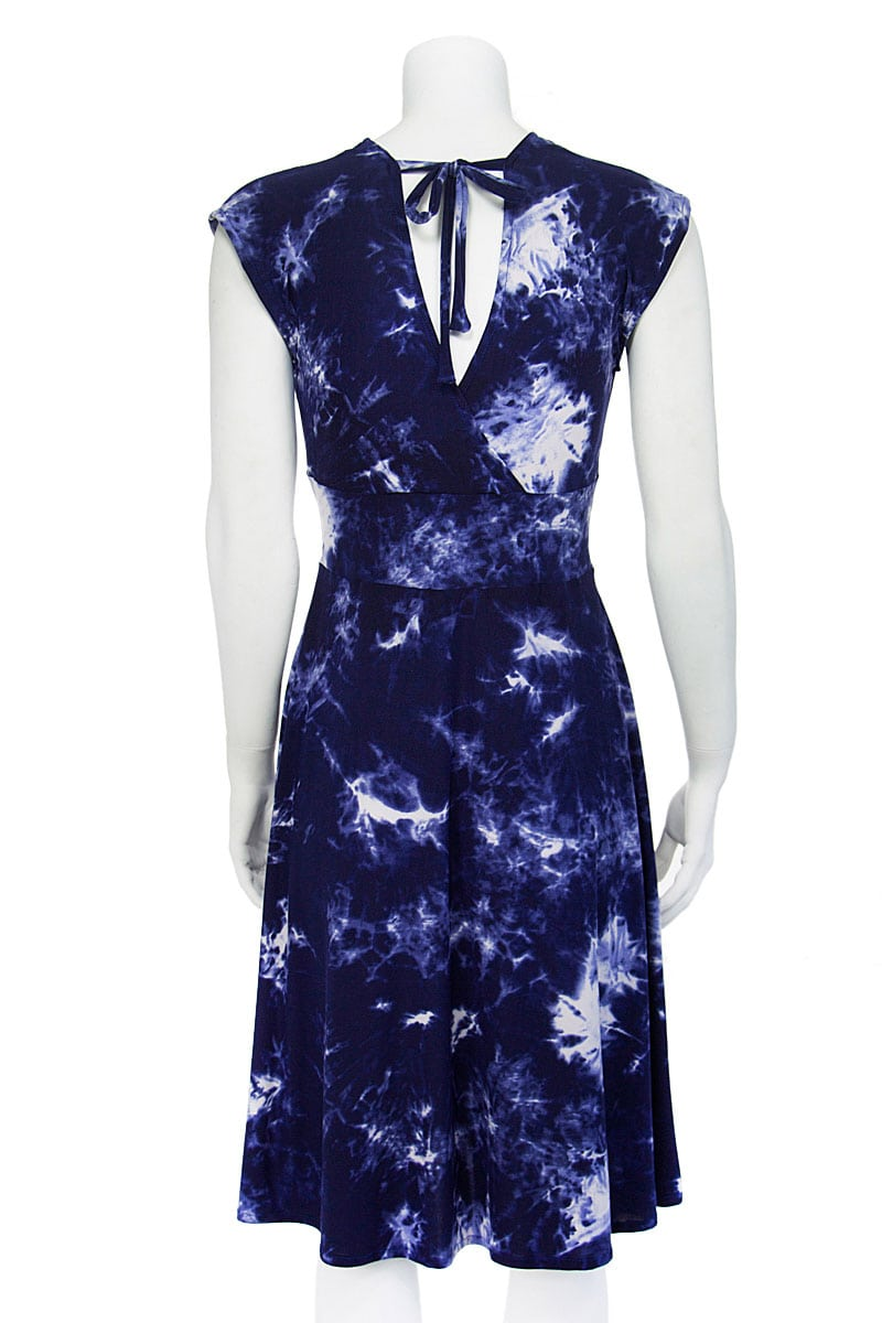 Veronica Lake Blue Tie-Dye Midi Dress