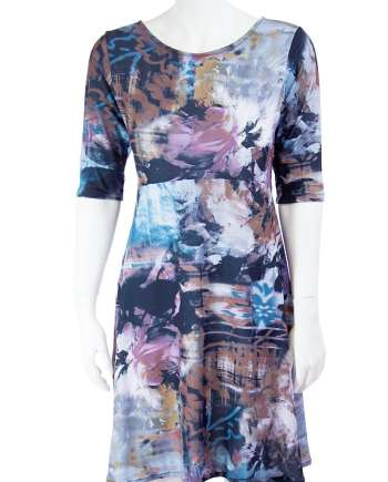 Airbrush Floral Ziggy Dress