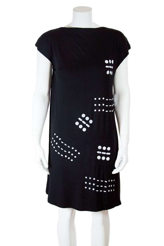 Morse Code Black T-Shirt Tunic