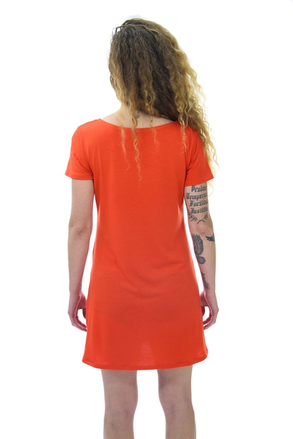 orange humming bird t-shirt tunic