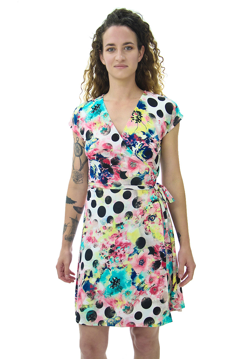 Dots and Things Wrap Dress