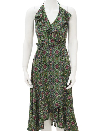 Green Goddess Scarlet Halter Dress