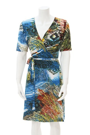 Blue Lagoon Wrap Dress