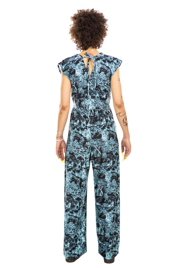 Forest Animals Veronica Lake Jumpsuit