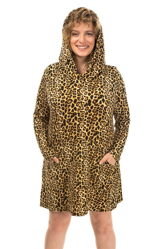 Classic Cheetah Hoodie Dress