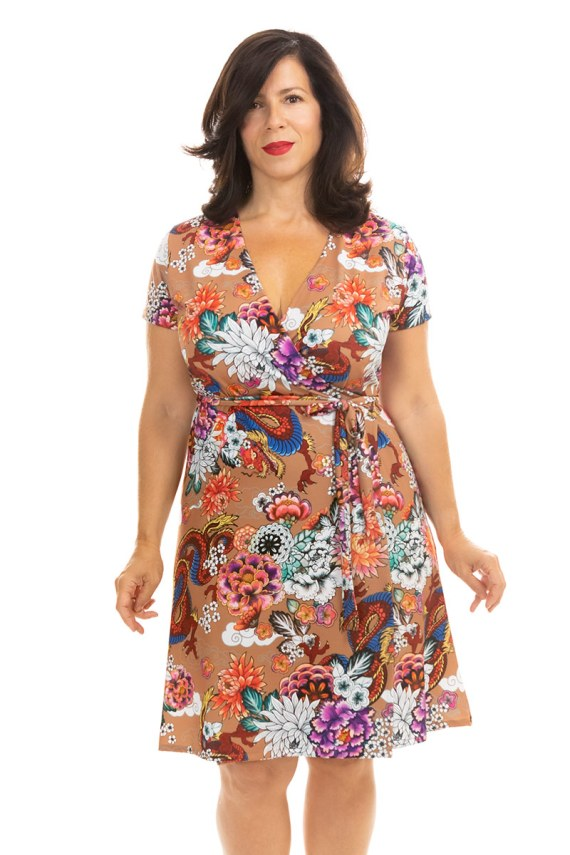 Dragon Lily Wrap Dress