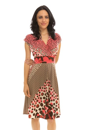 Pink Dot Veronica Lake Dress