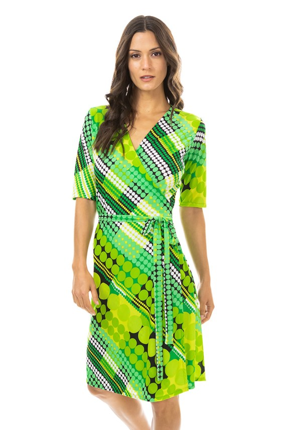 Green Bubbles Wrap Dress