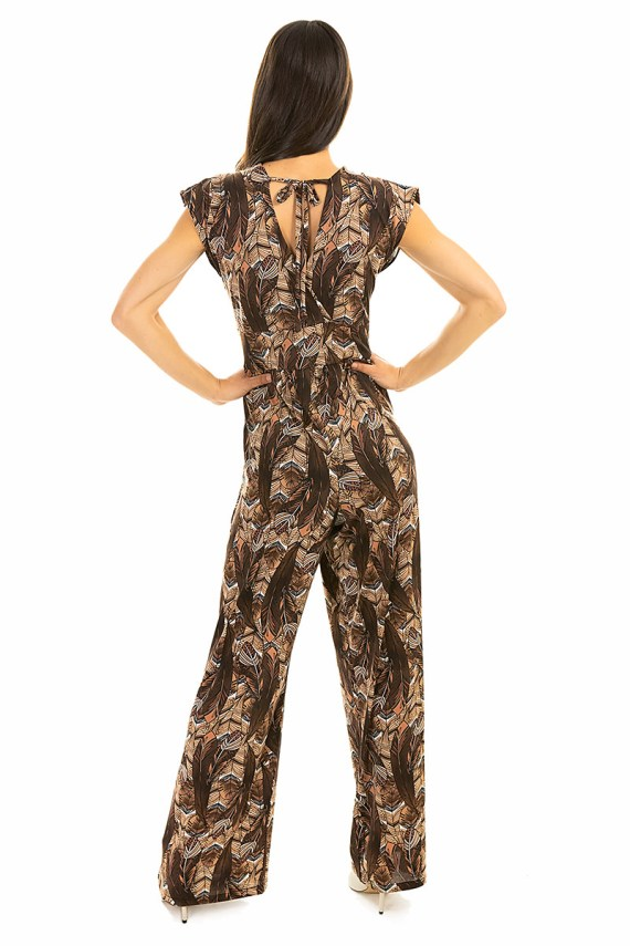 Fall Feather Jumpsuit