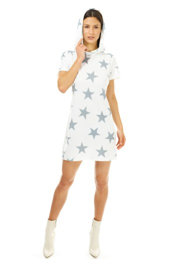 Silver Star Cover Up Dress