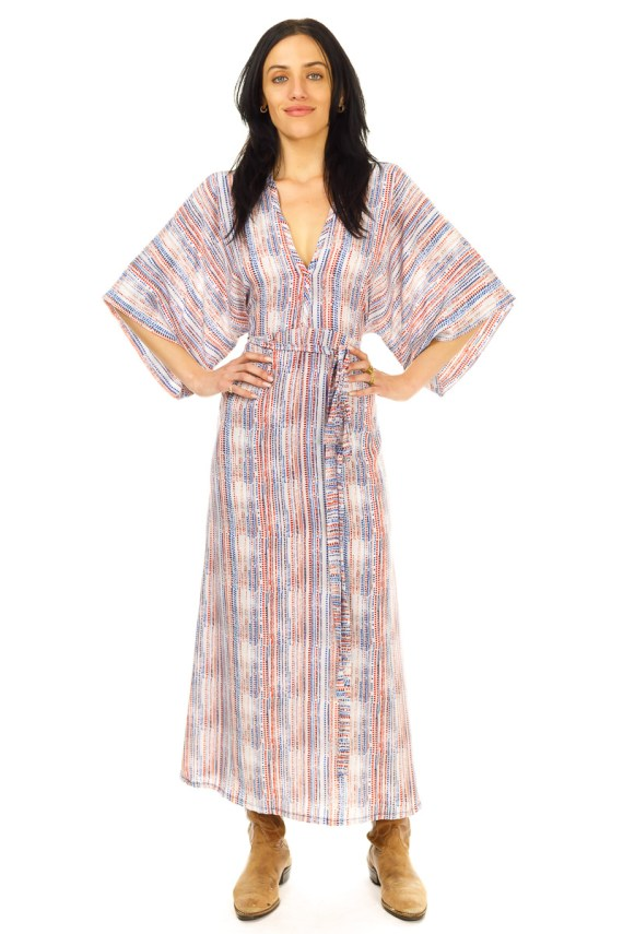 Red and Blue Lines Carli Dress
