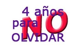 HAY DERECHOS QUE NO PUEDEN ESPERAR (I) 4 AÑOS PARA NO OLVIDAR