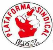 Nota de prensa  de la Plataforma Sindical EMT