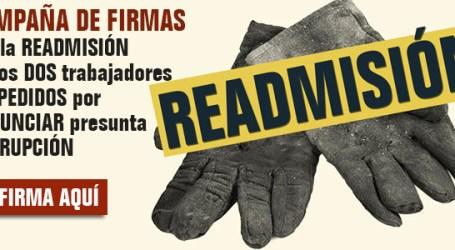 Readmisión de los dos despedidos de Alcalá