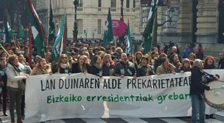 Huelga exitosa en las residencias de Bizkaia
