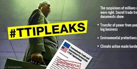 Greenpeace hace públicos los documentos secretos del TTIP