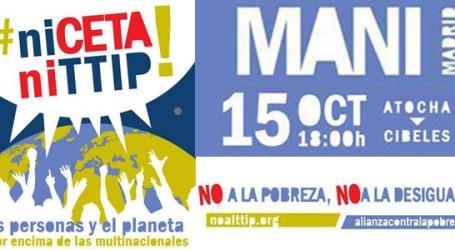 MANIFESTACIÓN 15 Octubre 18:00horas ¡Ni CETA Ni TTIP!