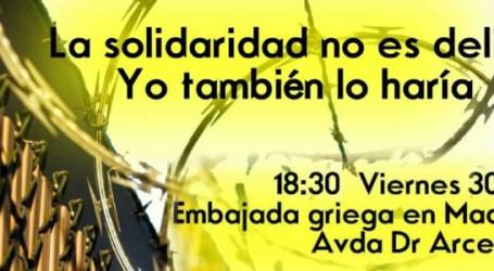 La solidaridad no es delito. CONCENTRACIÓN y RECOGIDA DE FIRMAS