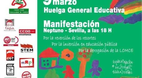 9M: Huelga general en Educación